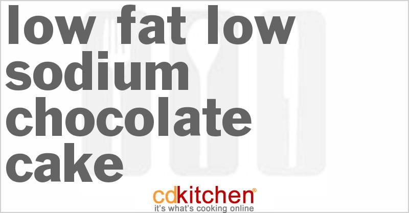 Low Sodium Low Calorie Recipes  Low Fat Low Sodium Chocolate Cake Recipe