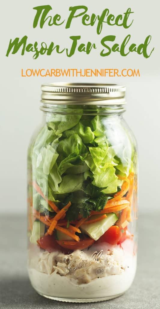 Mason Jar Salad Recipes Low Calorie  Mason Jar Salad • Low Carb with Jennifer
