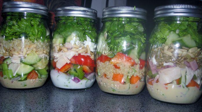 Mason Jar Salad Recipes Low Calorie  43 best Low Fat Recipes images on Pinterest