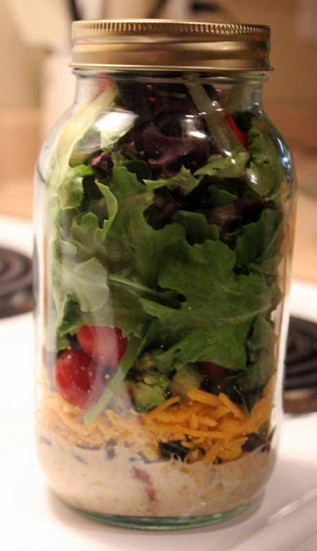 Mason Jar Salad Recipes Low Calorie  98 best images about Easy Meals to Go on Pinterest