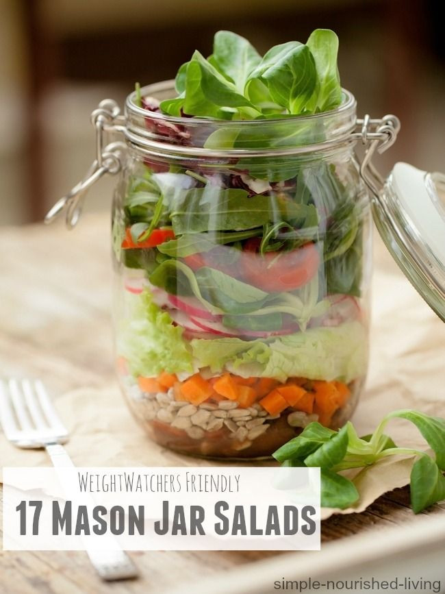 Mason Jar Salad Recipes Low Calorie  17 Best images about Simple nourished living w w on