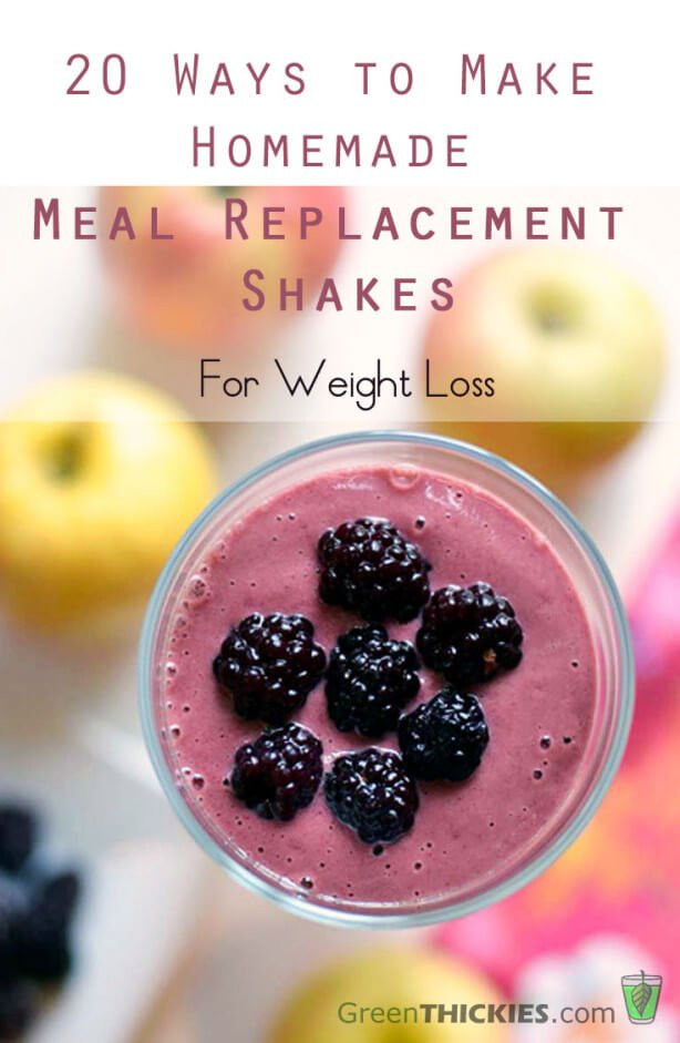 Meal Replacement Shakes Recipes For Weight Loss  20 Ways to Make Homemade Meal Replacement Shakes for