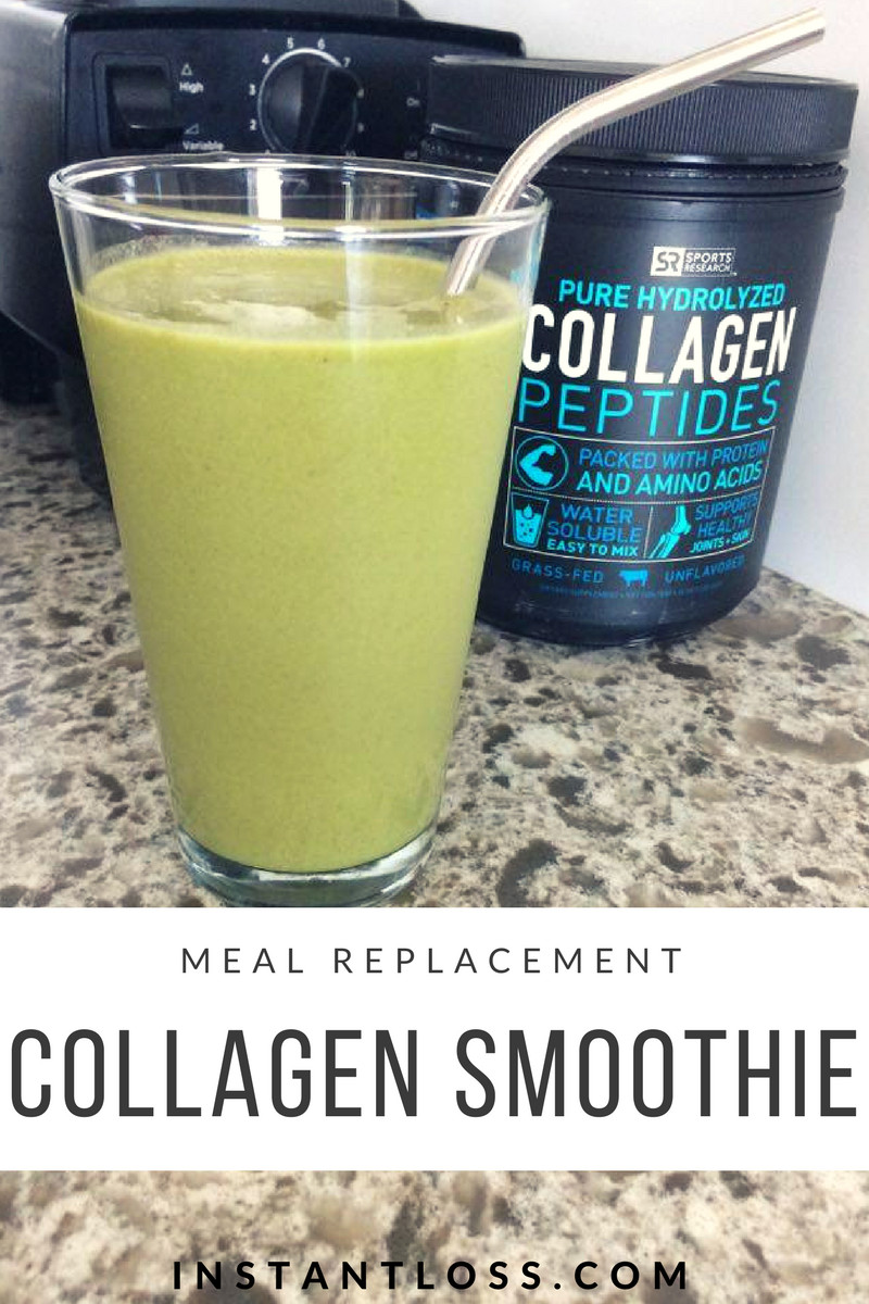 Meal Replacement Smoothie Recipes For Weight Loss  Meal Replacement Collagen Smoothie Instant Loss