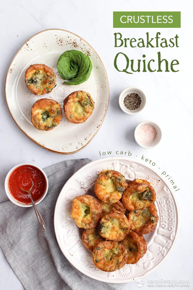 Mediterranean Ketogenic Diet  Crustless Keto Breakfast Quiche