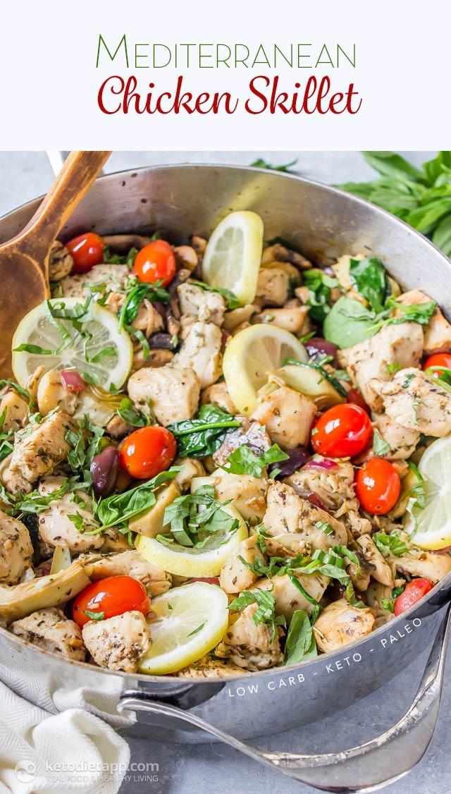 Mediterranean Ketogenic Diet  Keto Mediterranean Chicken Skillet