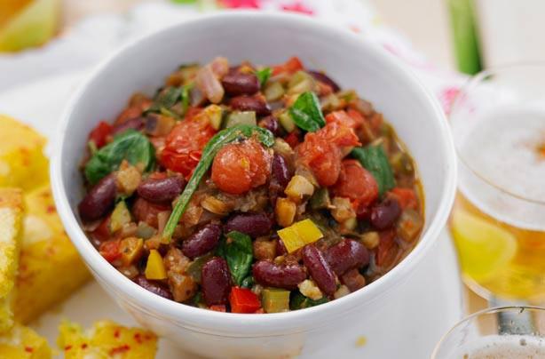 Mediterranean Vegetarian Diet  Mediterranean ve able chilli recipe goodtoknow