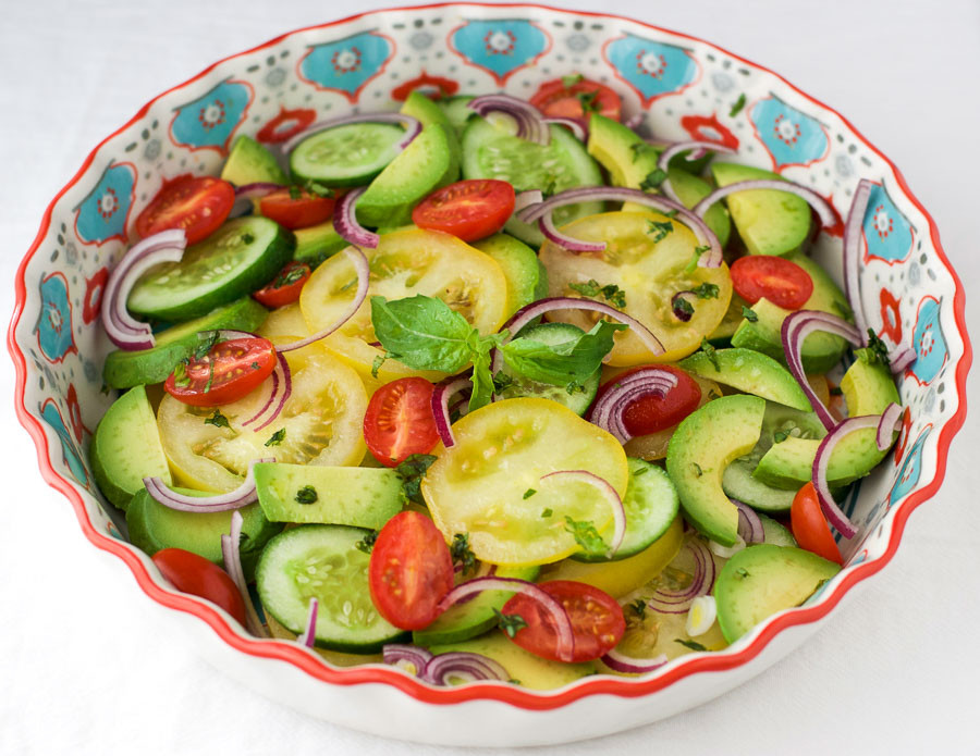 Mediterranean Vegetarian Diet  Mediterranean Salad Vegan The Wholesome Fork
