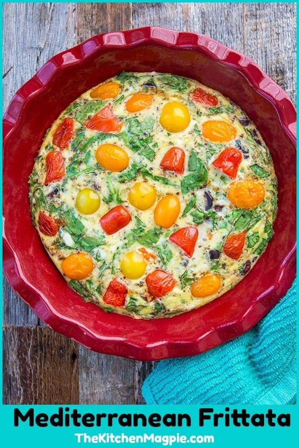 Mediterranean Vegetarian Diet  Mediterranean Ve able Frittata Recipe The Kitchen Magpie