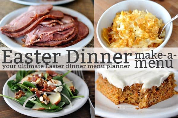 Menu For Easter Dinner  The Ultimate Easter Dinner Menu Planner