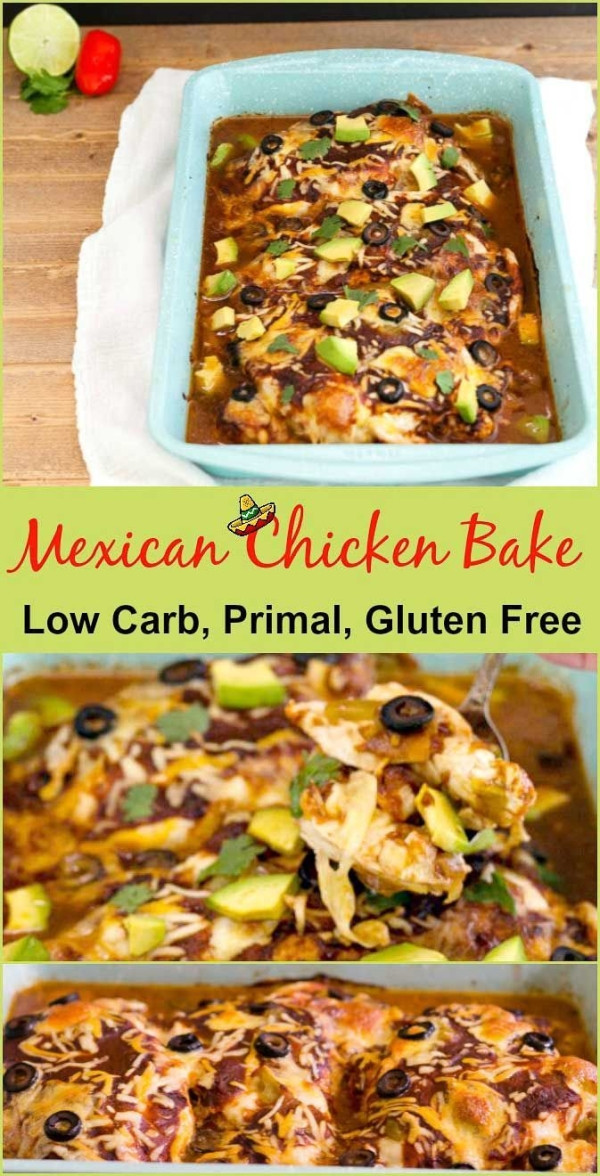 Mexican Chicken Casserole Low Carb  Easy Mexican chicken bake low carb is a gluten free grain