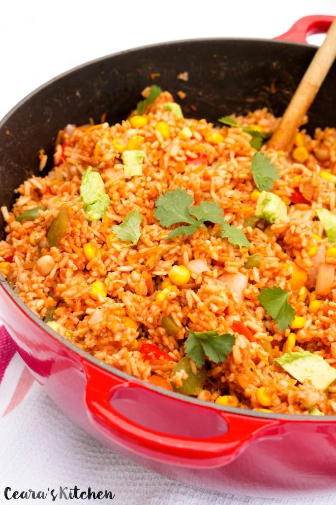Mexican Rice Recipes Vegetarian  Easy e Pot Mexican Rice Vegan Gluten Free