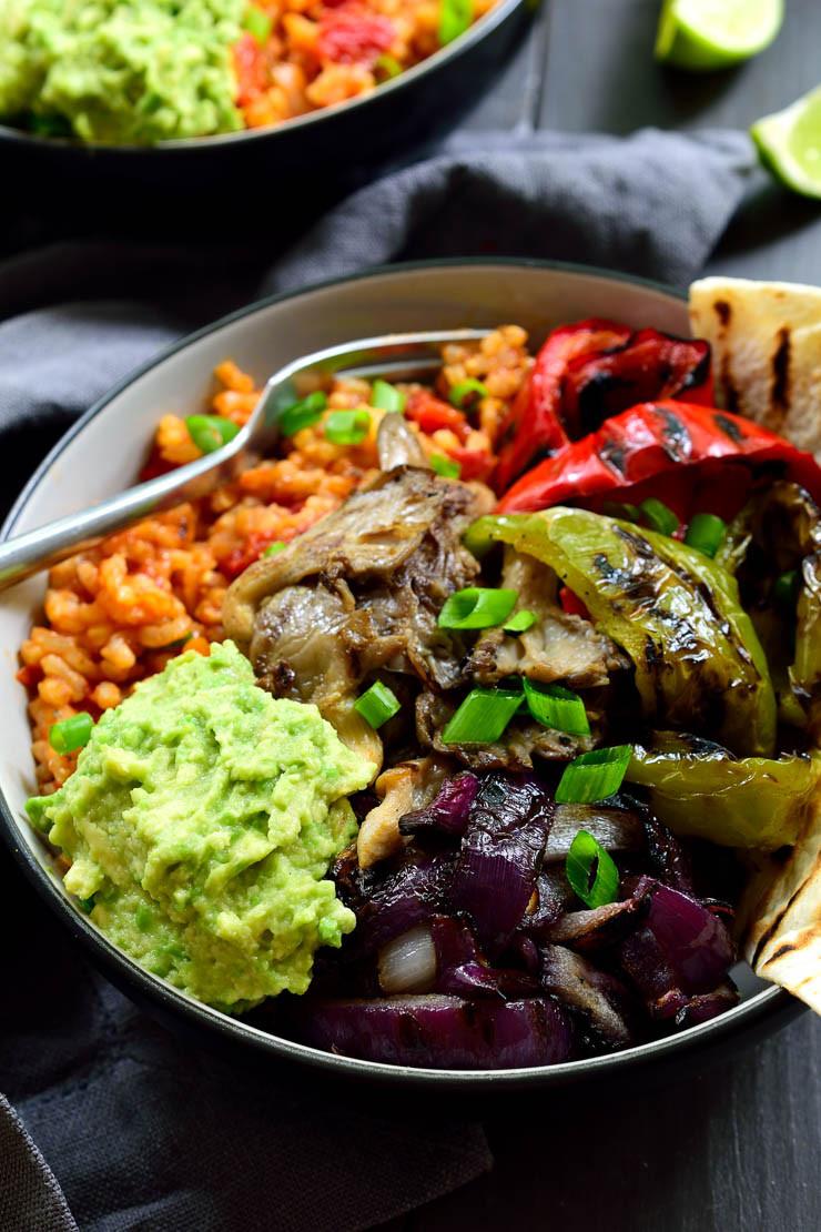 Mexican Rice Recipes Vegetarian  Vegan Mexican Rice Fajita Bowl
