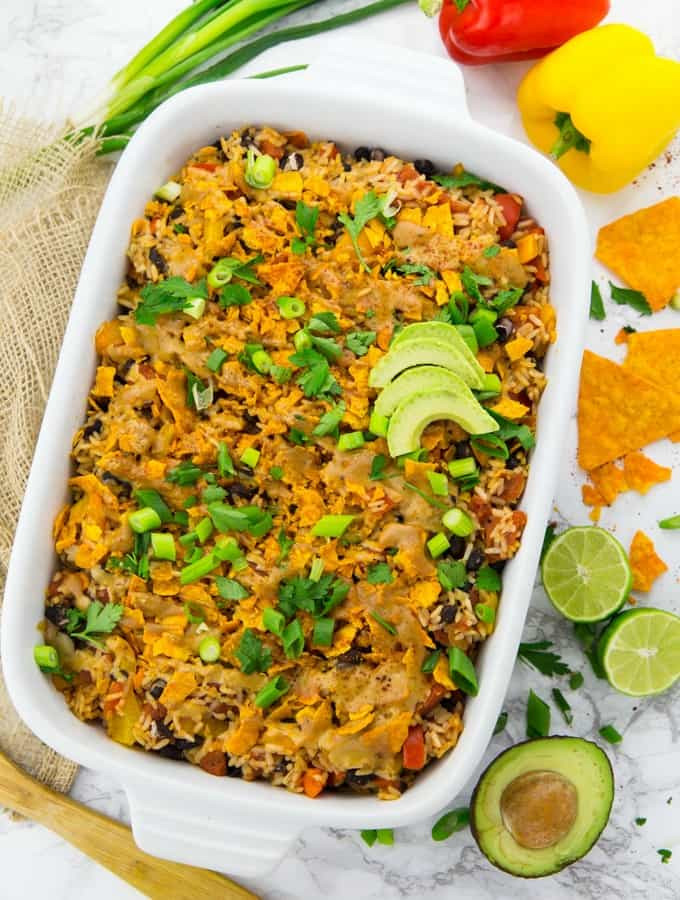 Mexican Rice Recipes Vegetarian  ve arian mexican casserole with rice