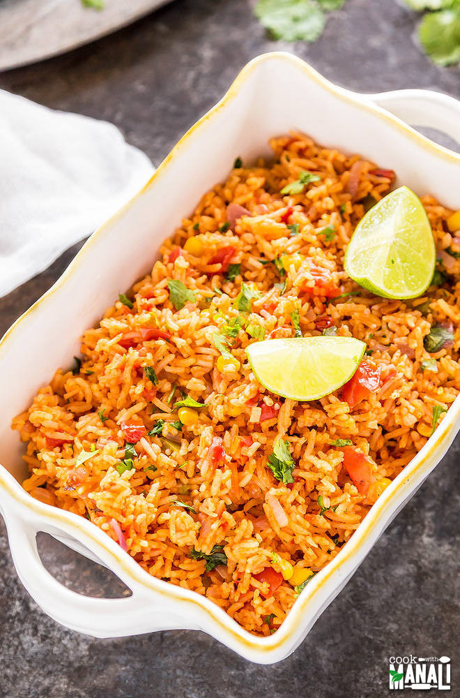 Mexican Rice Recipes Vegetarian  Ve arian Mexican Rice Cook With Manali