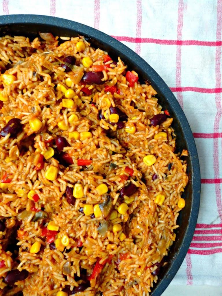 Mexican Rice Recipes Vegetarian  Ve arian e Pan Mexican Rice Healthy