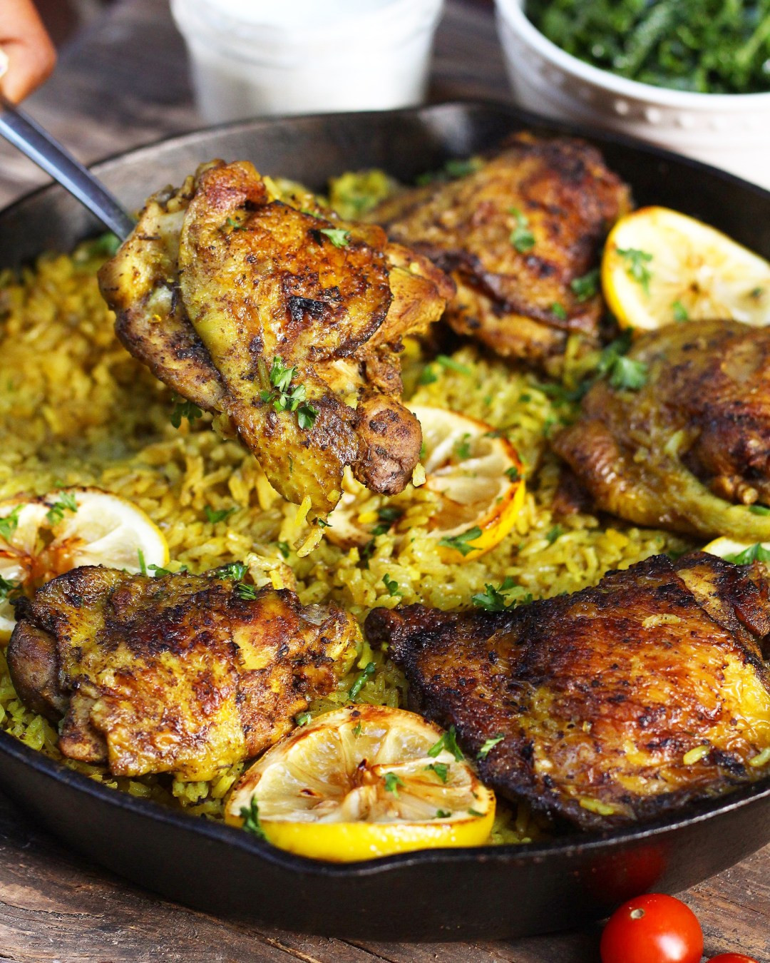 Middle Eastern Chicken Recipes  e Pot Middle Eastern Chicken and Rice Ev s Eats