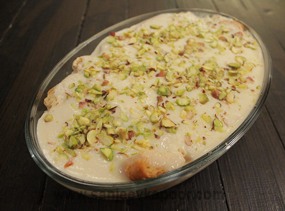 Middle Eastern Dessert Recipe  How to make Aish El Saraya Middle Eastern Dessert