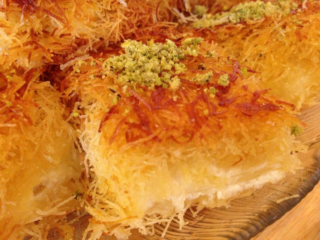 "Middle Eastern Dessert Recipe  How to make ""Knafeh"" a Middle Eastern Cheese Dessert"