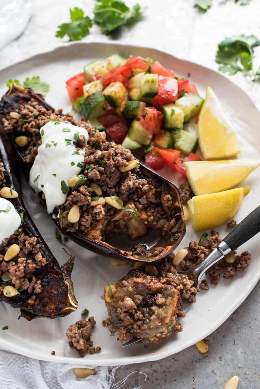 Middle Eastern Eggplant Recipes  Moroccan Baked Eggplant with Beef
