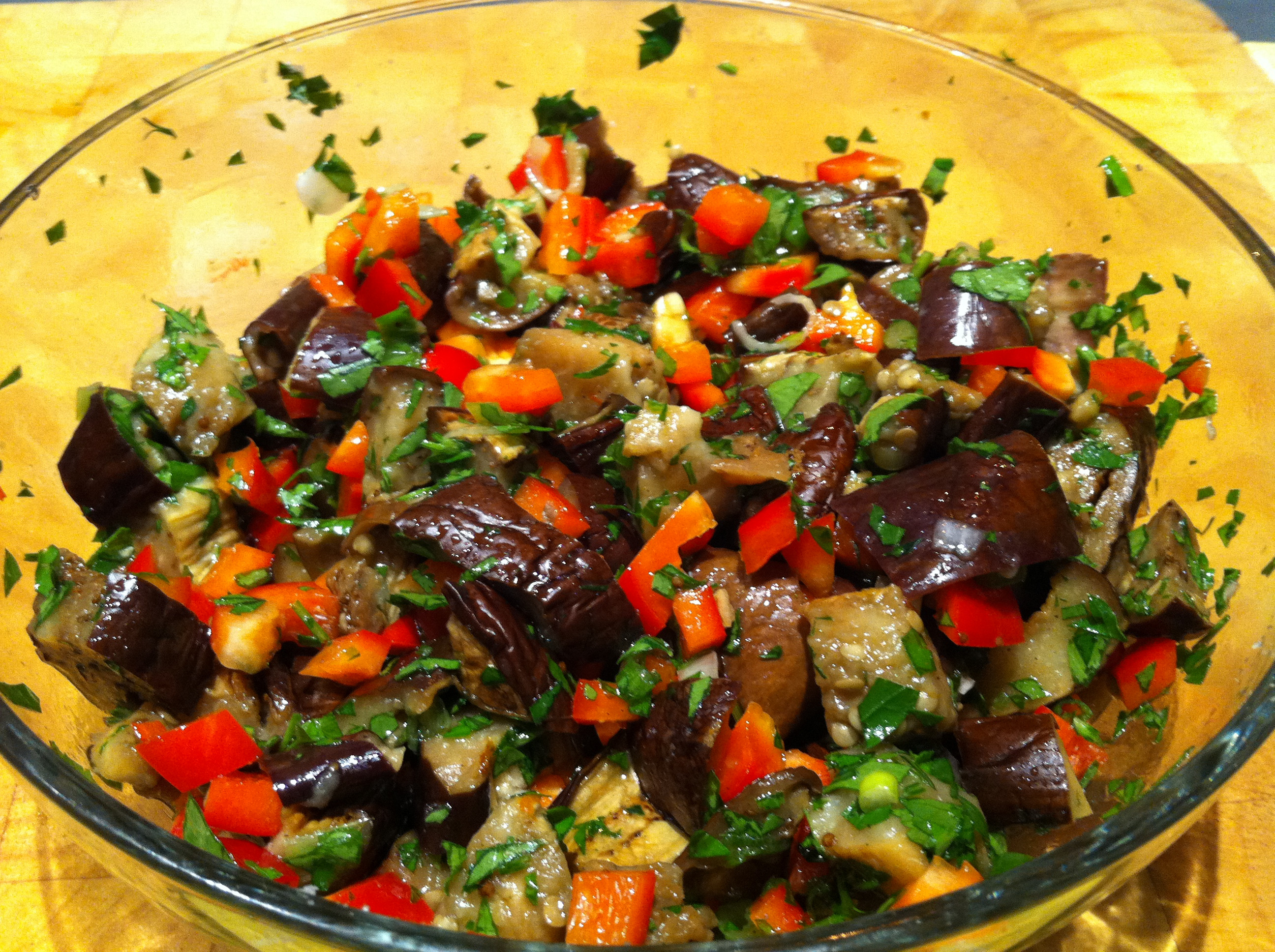 Middle Eastern Eggplant Recipes  Eggplant Red Pepper and Chili – Middle Eastern Mezze