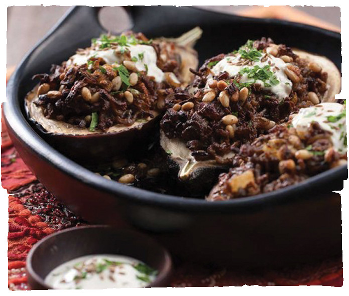 Middle Eastern Eggplant Recipes  Middle Eastern Lamb and Yoghurt Stuffed Eggplant five am