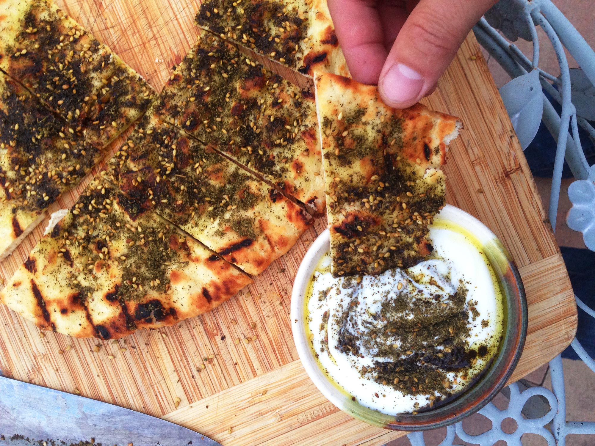 Middle Eastern Flatbread Recipes  Super Simple From Scratch Grilled Flatbread With Olive Oil