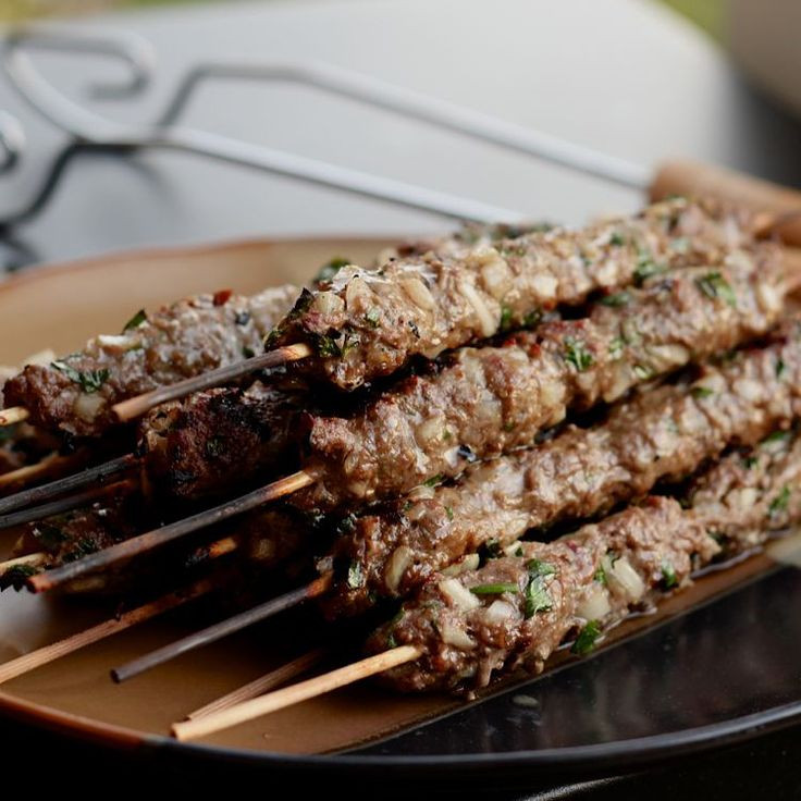 Middle Eastern Ground Beef Recipe  Middle Eastern Beef and Parsley Kabobs