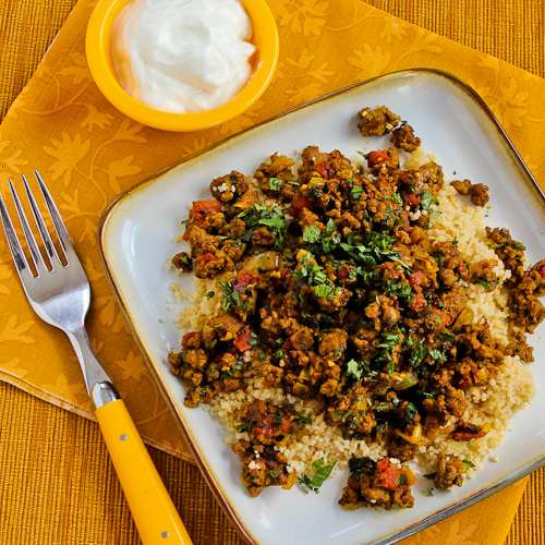 Middle Eastern Ground Beef Recipe  Kalyn s Kitchen Recipe for Middle Eastern Spicy Ground