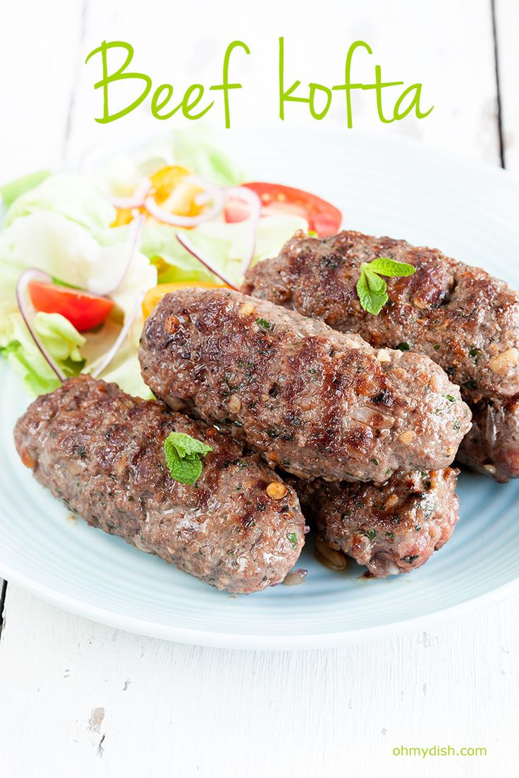 Middle Eastern Ground Beef Recipe  Spicy garlic flavors from this middle eastern beef kofta