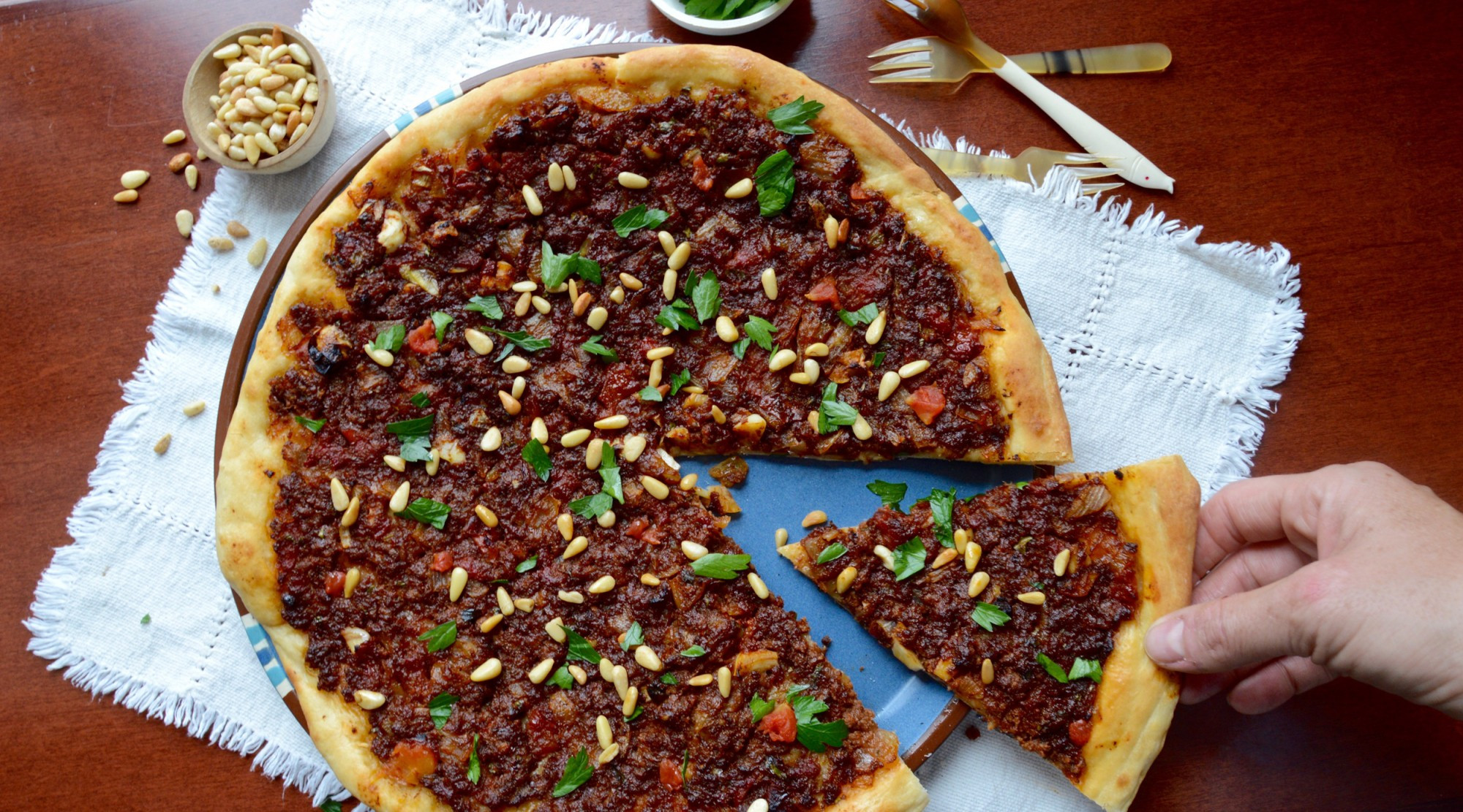 Middle Eastern Ground Beef Recipe  Savory Middle Eastern Flatbread