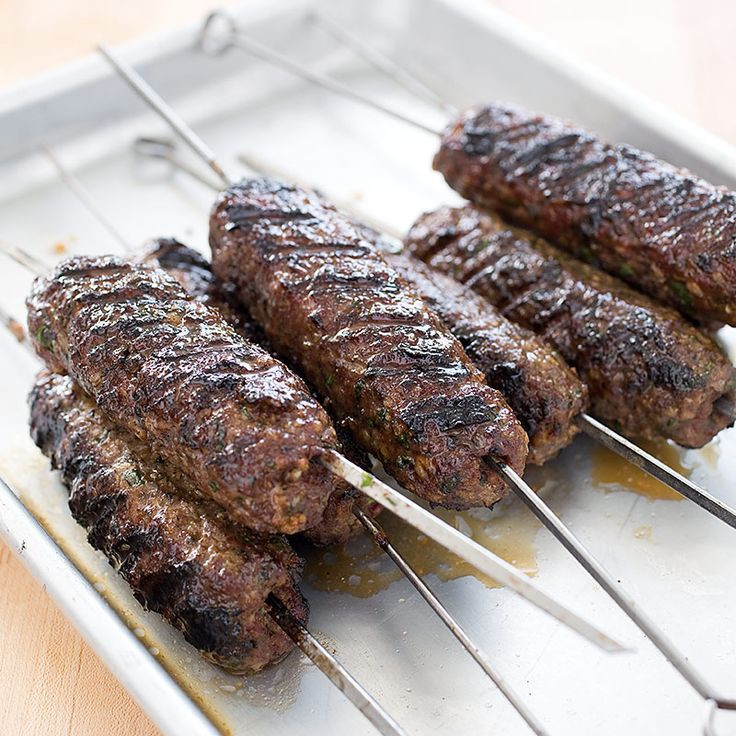 Middle Eastern Ground Beef Recipes  Grilled Ground Meat Skewers With Middle Eastern Spices