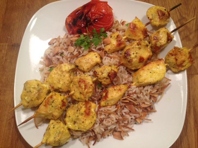 Middle Eastern Kabob Recipes  e Classy Dish Middle Eastern Chicken Kabobs