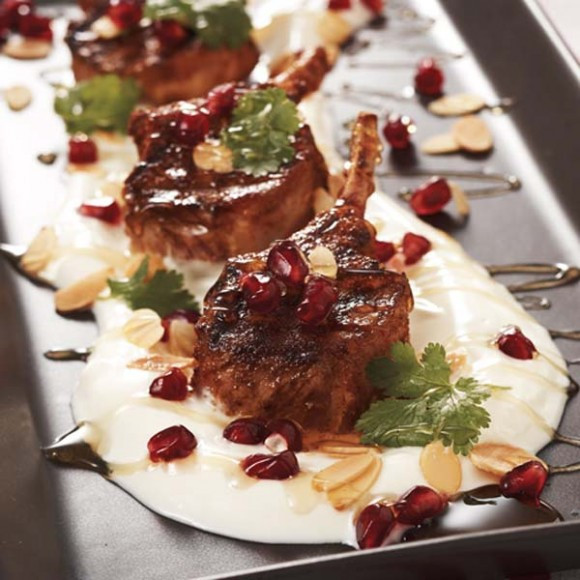 Middle Eastern Lamb Recipes  Middle Eastern Lamb Cutlets with Garlic Yoghurt Honey and