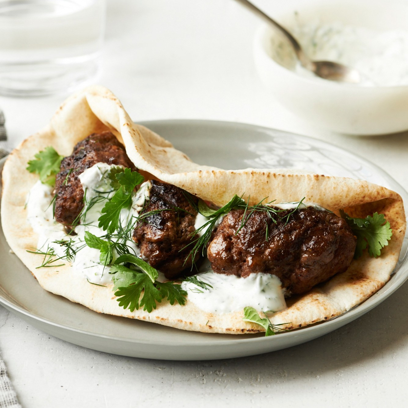 Middle Eastern Lamb Recipes  Spiced Middle Eastern Lamb Patties with Pita and Yogurt