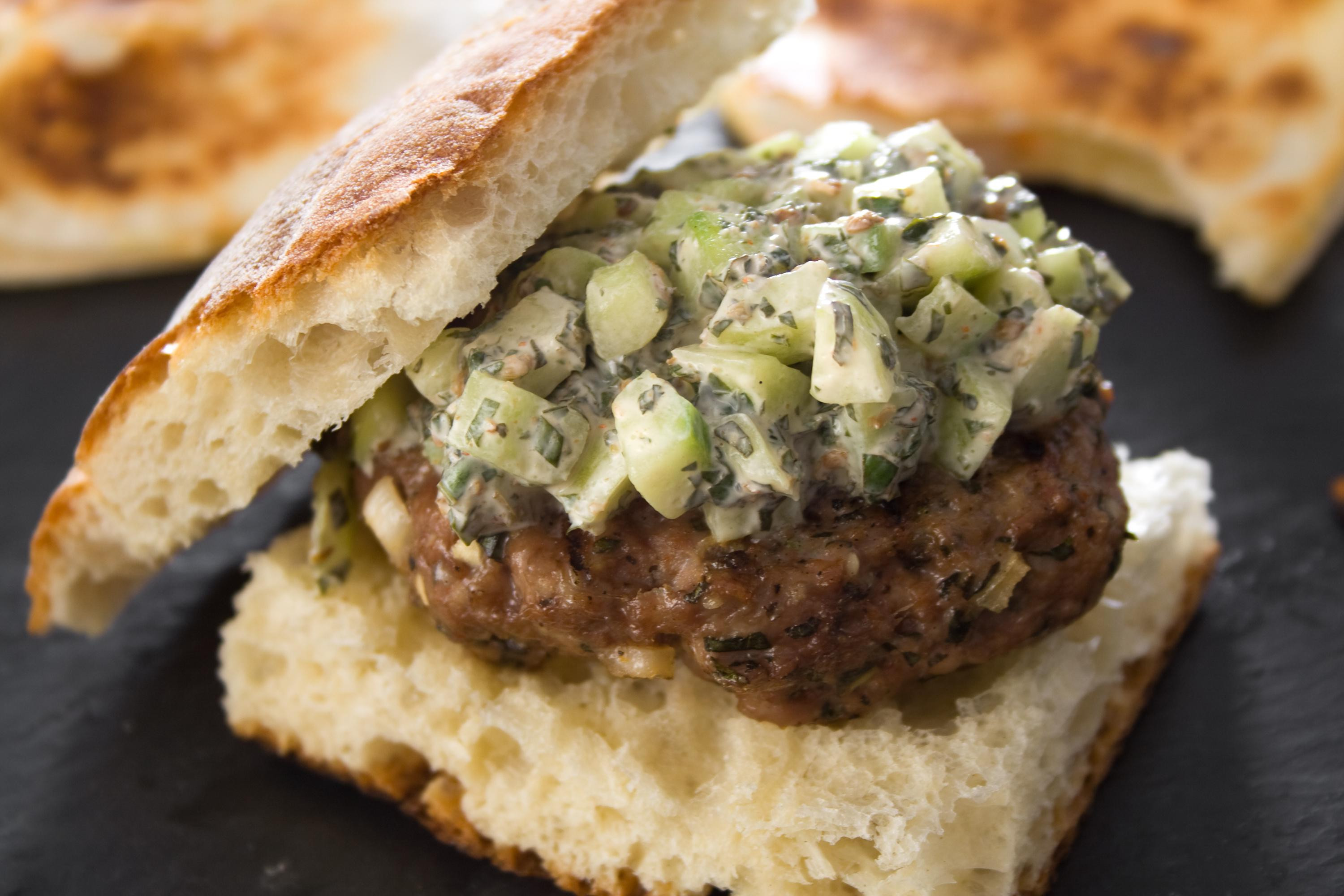 Middle Eastern Lamb Recipes  middle eastern lamb burger