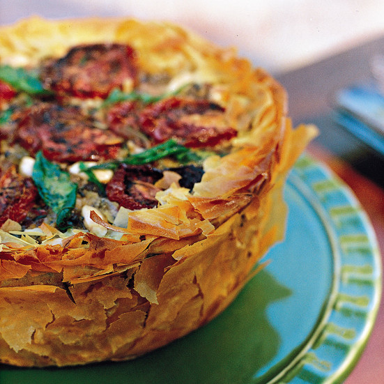 Middle Eastern Recipes Vegetarian  Middle Eastern Phyllo Rice Torte Recipe Toni Robertson