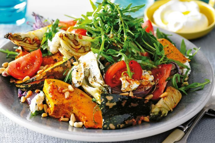 Middle Eastern Recipes Vegetarian  Roasted Autumn ve able salad