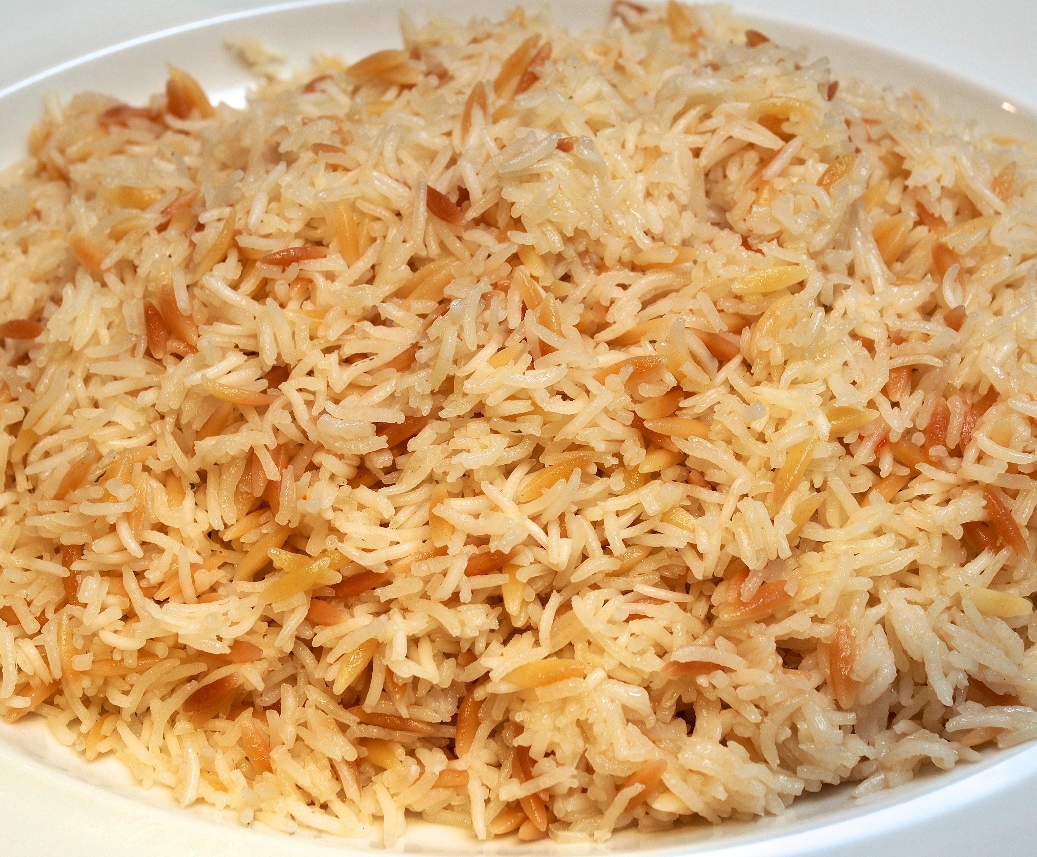 Middle Eastern Rice Pilaf Recipes  Basmati Rice & Orzo