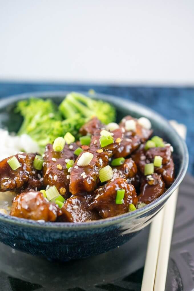 Mongolian Recipes Vegetarian  Mongolian Seitan Ve arian Mongolian Beef Recipe