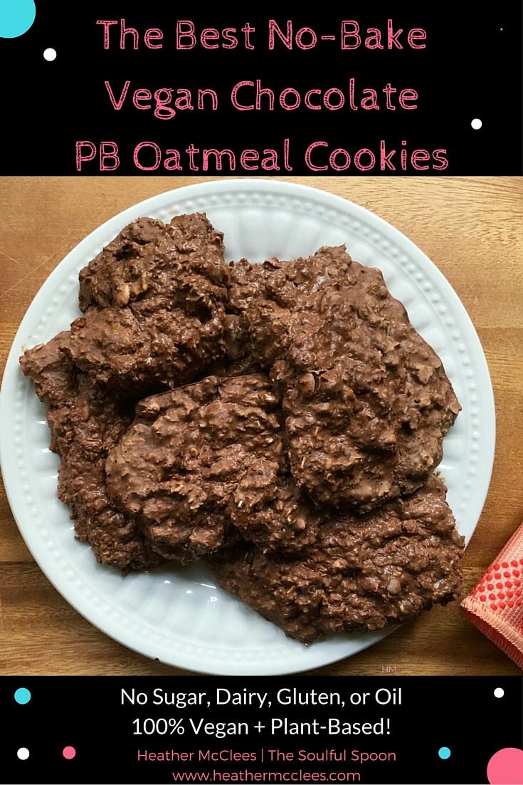 No Bake Vegan Oatmeal Cookies  vegan no bake oatmeal cookies