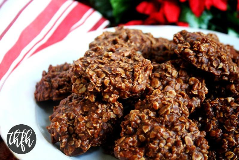 No Bake Vegan Oatmeal Cookies  Gluten Free Vegan Chocolate Peanut Butter Oatmeal No Bake
