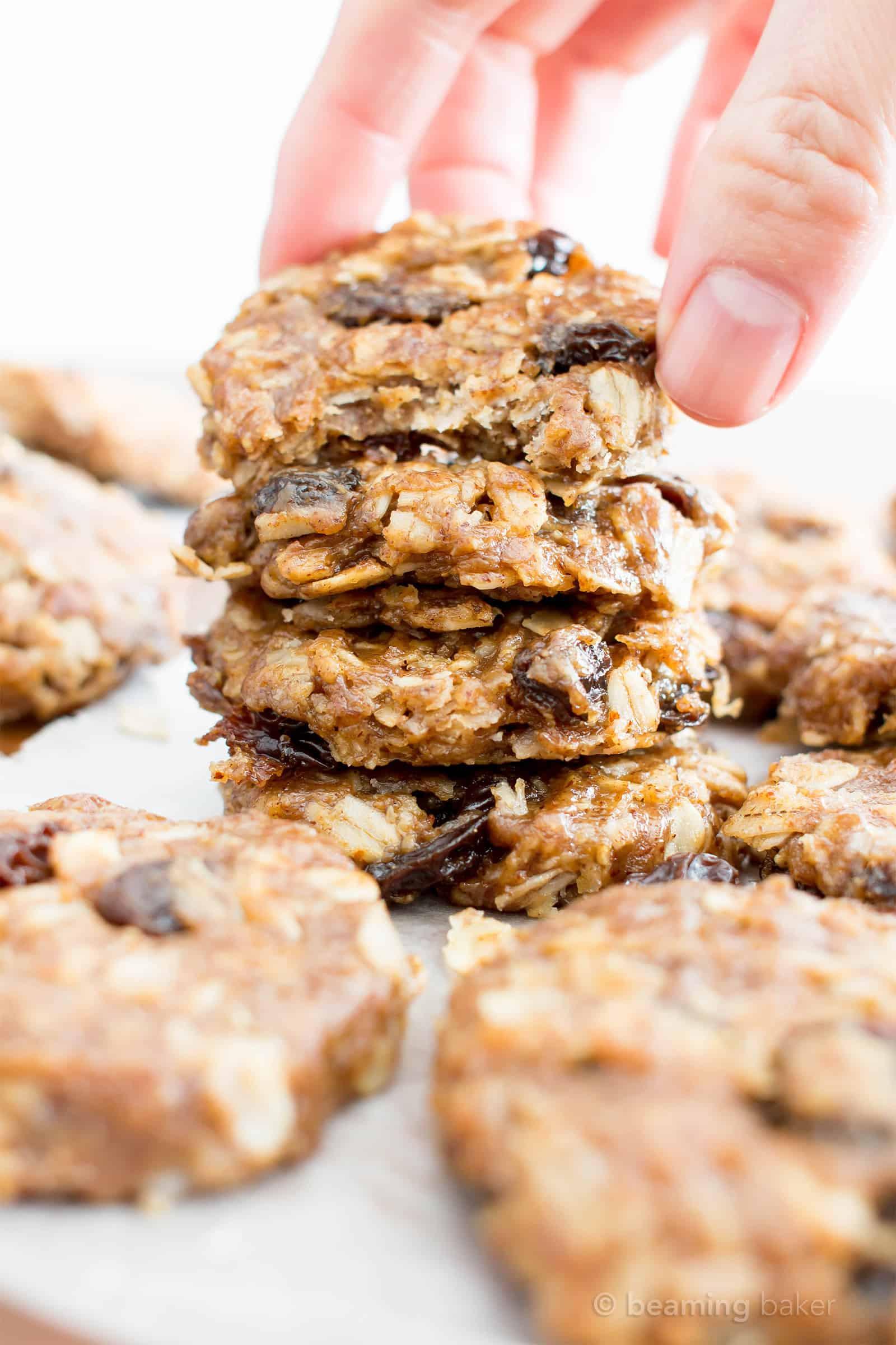 No Bake Vegan Oatmeal Cookies  4 Ingre nt No Bake Chewy Oatmeal Raisin Cookies Gluten