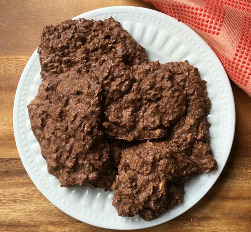 No Bake Vegan Oatmeal Cookies  The Best No Bake Vegan Chocolate Peanut Butter Oatmeal Cookies