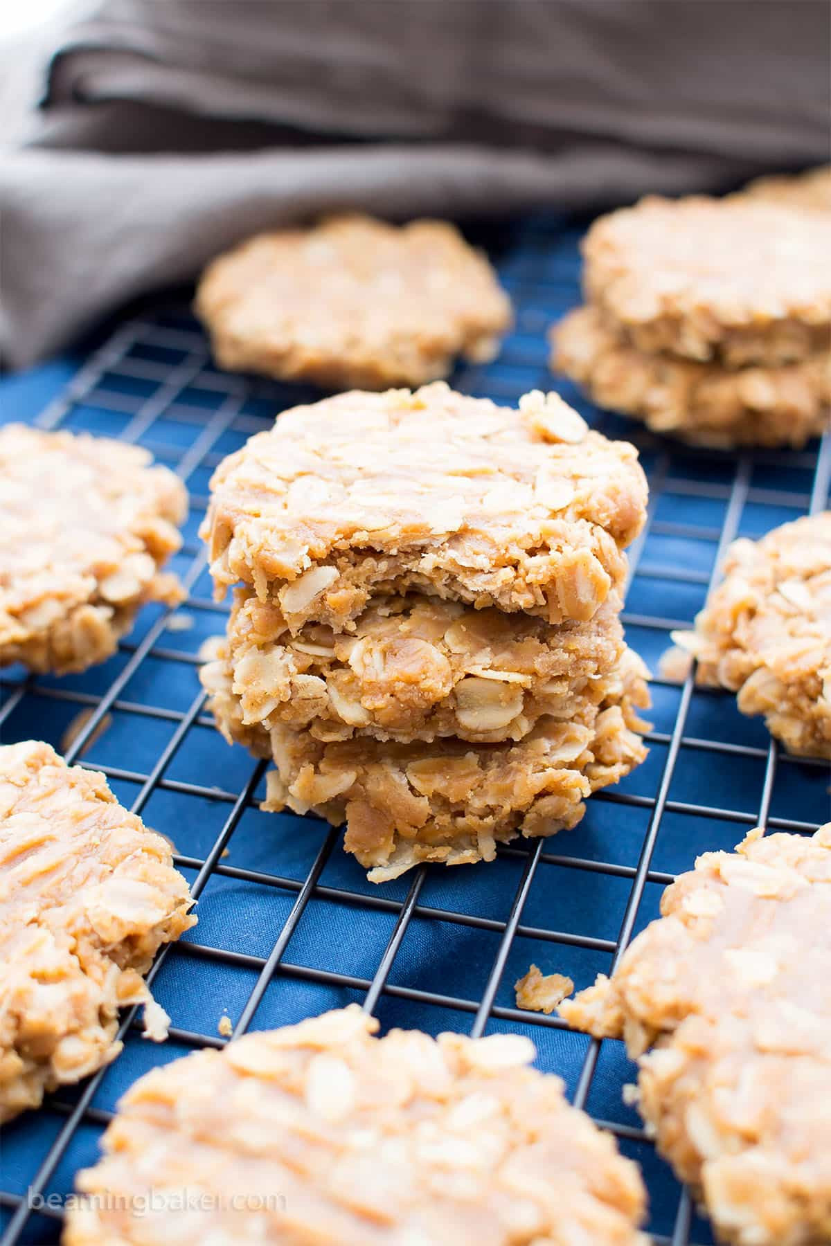 No Bake Vegan Oatmeal Cookies  3 Ingre nt No Bake Peanut Butter Oatmeal Cookies Gluten