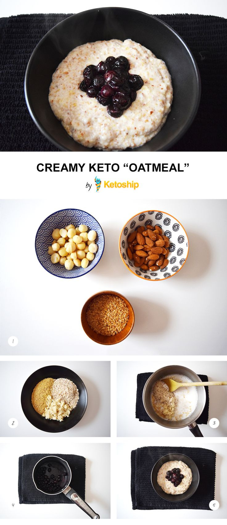 Oatmeal And Keto Diet  Creamy Keto Oatmeal recipe Ketoship