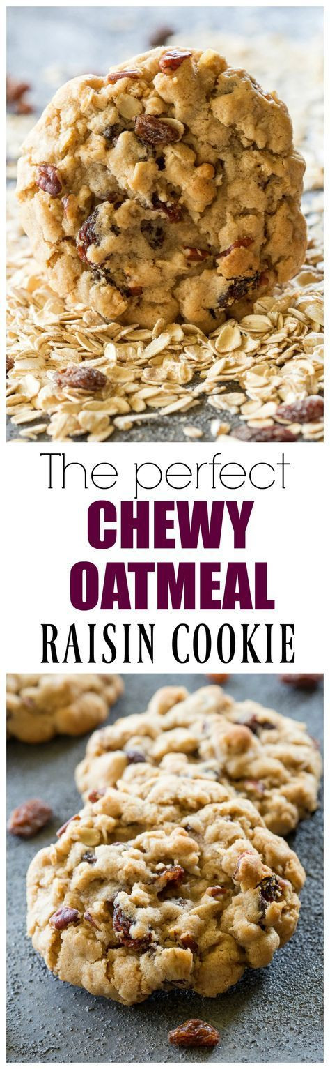 Oatmeal Cookies For Diabetics  The Best Chewy Oatmeal Raisin Cookies perfect texture