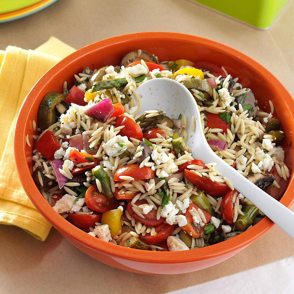 Orzo Recipes Vegetarian  Grilled Ve able Orzo Salad Recipe