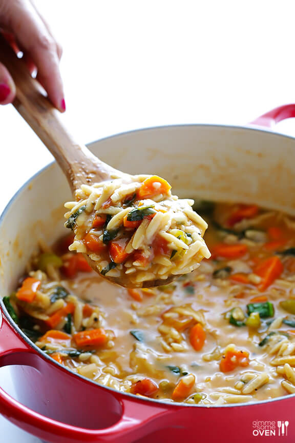 Orzo Recipes Vegetarian  Italian Orzo Spinach Soup