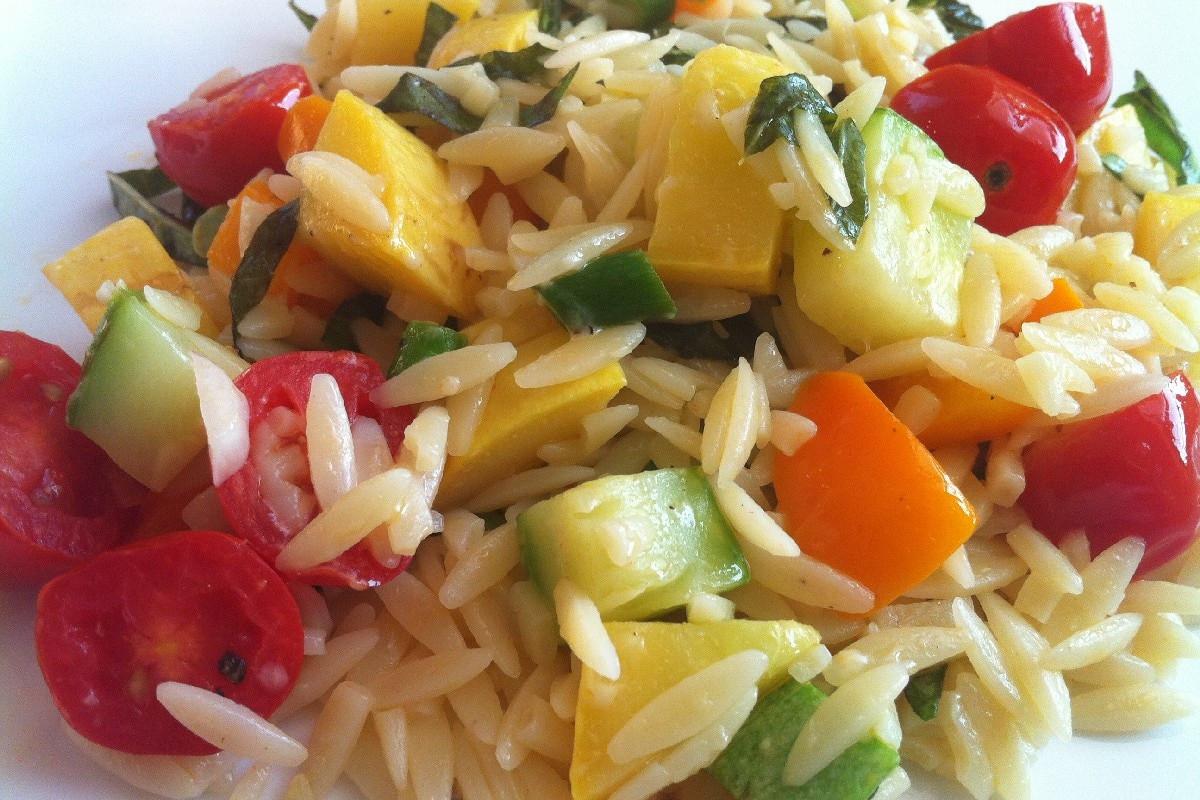 Orzo Recipes Vegetarian  Ve arian Lime Orzo Recipe — Dishmaps
