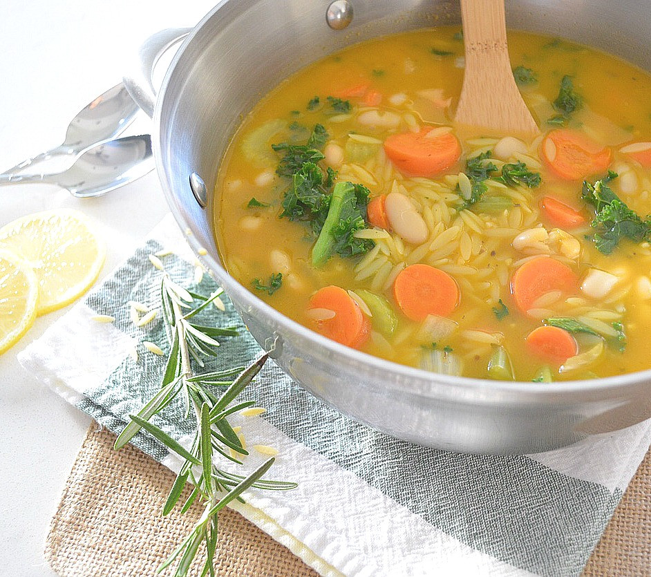 Orzo Recipes Vegetarian  Lemon Ve able Orzo Soup Fresh and Fit